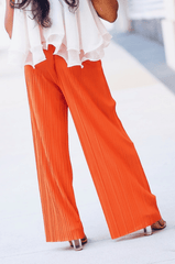 'Karina' Coral Pleated Pants