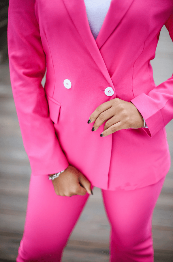 Power Moves Blazer - Pink