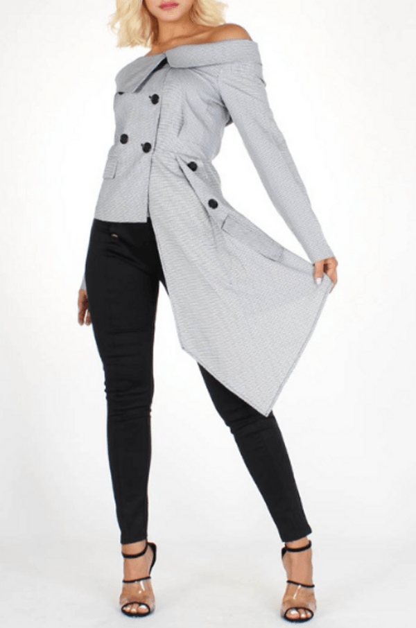 'Just Blaze' Asymmetrical Blazer