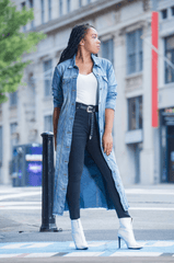 Double Up Denim Trench/Dress