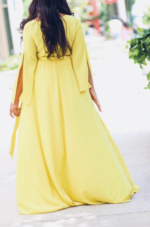 'Savannah' Lime Maxi Dress