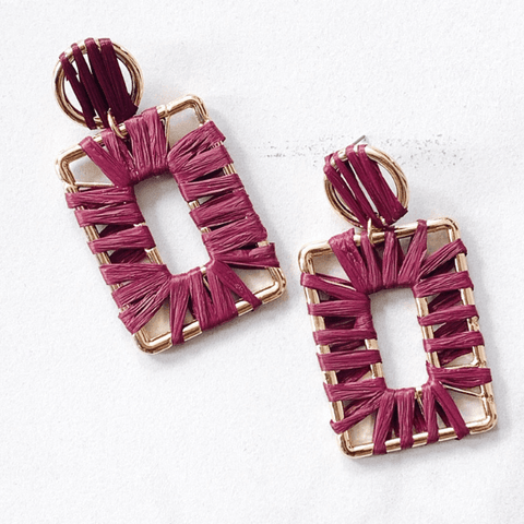 'Amor' Raffia Earrings