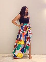 Art Deco Maxi Skirt
