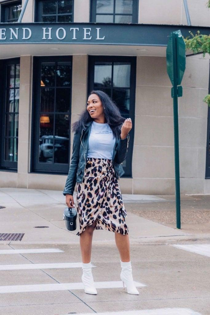 'Wild Thoughts' Leopard Midi Skirt
