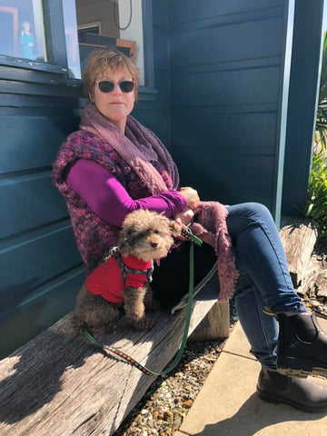 Karen and Charlie in New Zealand