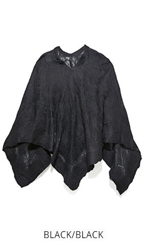 All Over Wool Poncho