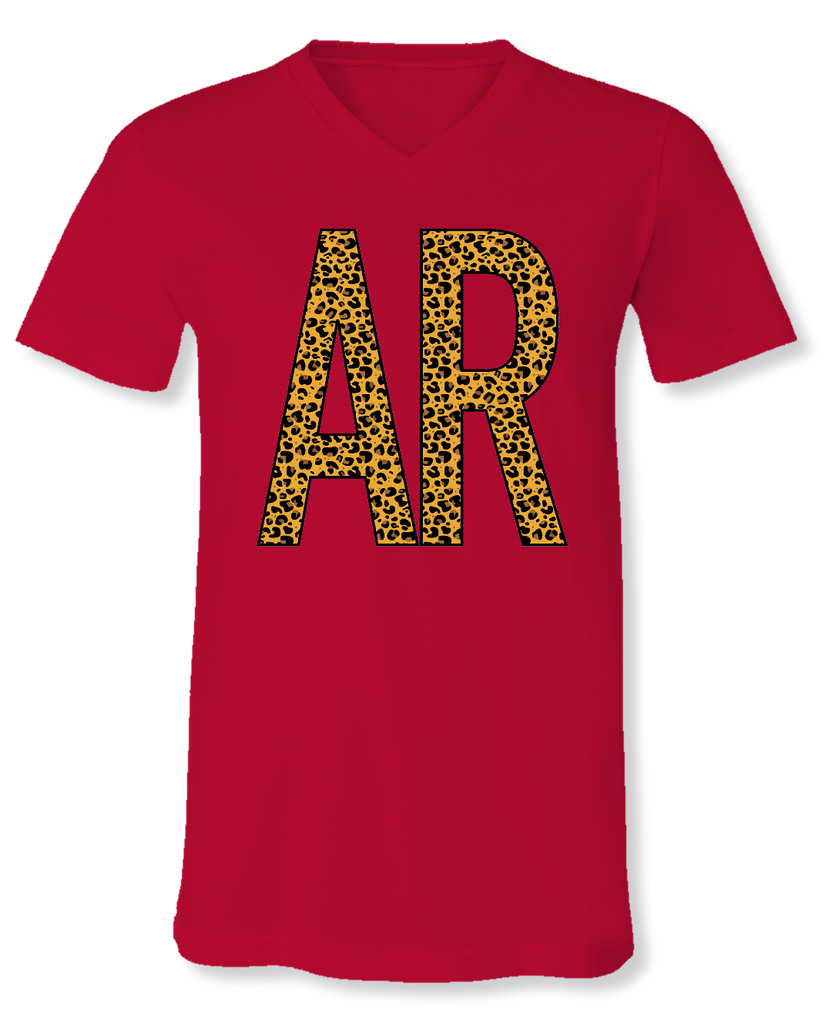"""Arkansas"" V-Neck Front Print Tee"