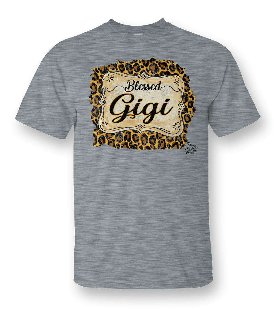 """Blessed Gigi"" Front Print Tee"