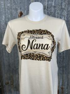 """Blessed Nana"" Front Print Tee"