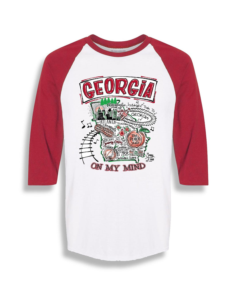 """Georgia On My Mind"" Raglan"