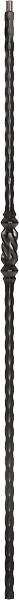 "LI-13144 — Hammered Edge Single Beehive Baluster (9/16"" Square Solid)"