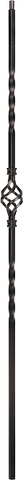 "LI-1BASK44 — Single Basket Baluster (1/2"" Square Solid)"