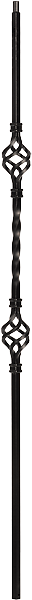 "LI-2BASK44 — Double Basket Baluster (1/2"" Square Solid)"