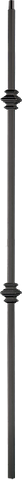 "LI-2KNUC44 — Double Knuckle Baluster (1/2"" Square Solid)"