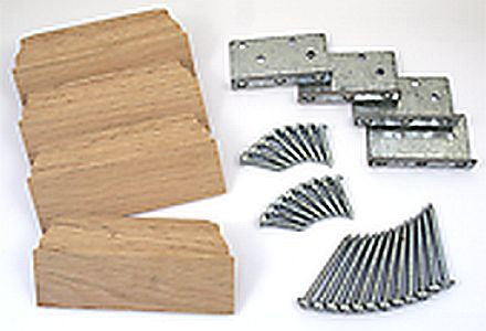 "LJ-3019 - Angle Bracket 3-1/2"" Newel Post Fastener"