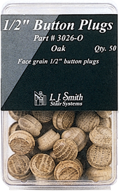 "LJ-3026 - 1/2"" Button Plugs- 50 Pack"