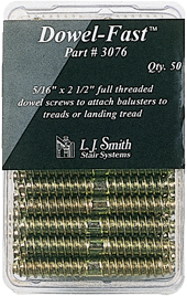 "LJ-3076 - Package of 50 5/16"" Dowel-Fast Screws"