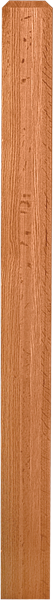 "LJ-4000/4001 - Solid Craftsman Newel Post 3-1/2"" Square"