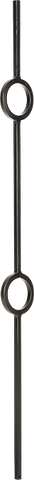 "LI-40244 — Double Ring Medallion Baluster (1/2"" Square Solid)"