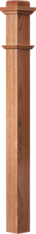 "LJ-4075 — Traditional Box Newel  3-1/2"" Square x 66"""