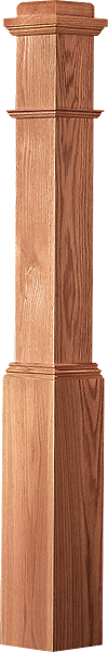 "LJ-4091 - Plain Panel Traditional Box Newel 6-1/4"" Square x 55"""
