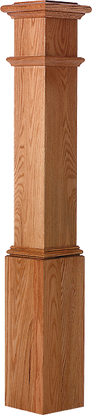 "LJ-4092 - Plain Panel Starting Box Newel 7-1/2"" Square x 53-1/2"""