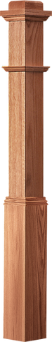 "LJ-4175 — Traditional Box Newel  4-1/2"" Square x 66"""