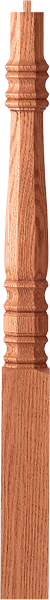 "LJ-427XX - Hampton Octagonal Pin Top Newel - 3-1/4"" Square"
