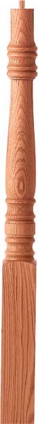 "LJ-427X - Hampton Pin Top Newel - 3-1/4"" Square"
