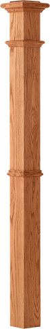 "LJ-4392 - Plain Panel Intermediate Box Newel 4-1/4"" Square x 62"
