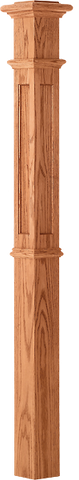 "LJ-4394 - Recessed Panel Intermediate Box Newel 4-1/4"" Square x 62"""