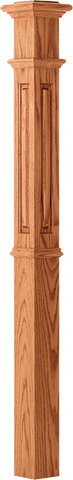 "LJ-4395 - Raised Panel Intermediate Box Newel 4-1/4"" Square x 62"""