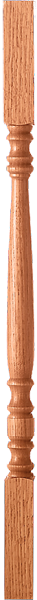 "LJ-5005 — Hampton Solid Prime Block Top Baluster  1-3/4"" x 1-3/4"" Square"