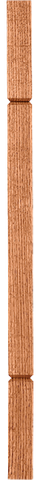 "LJC-5360V — Solid Chamfered V-Groove Baluster  1-3/4"" Square"
