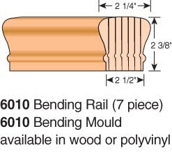 LJ-6010-BR - Bending Wood Hand Rail - Non-Plowed