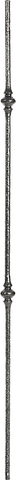 "LI-61244 - Hammered Bar Baluster (1/2"" Solid Round)"