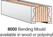 8000W-BM - Pine Bending Mould - 8' Section