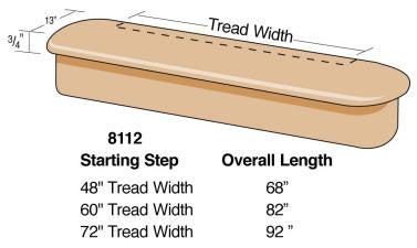8112 - Adjustable Double Radius Bullnose Starting Step