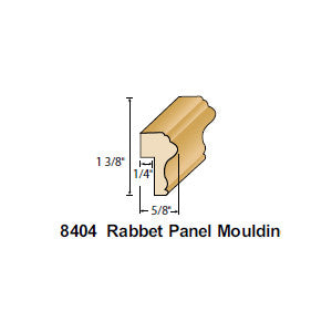 8404 —  Rabbet Panel Moulding