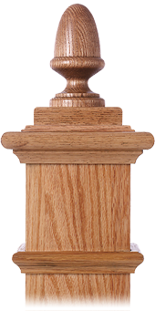 LJ-9003 — Acorn Finial for Box Newels