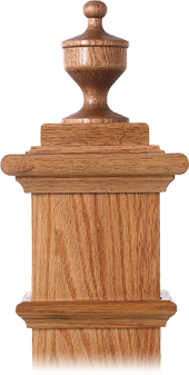 LJ-9004 — Champagne Finial for Box Newels