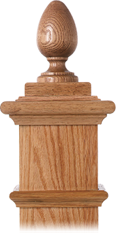 LJ-9005 — Teardrop Finial for Box Newels