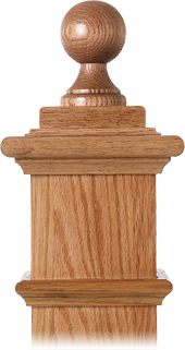 LJ-9007 — Balltop Finial for Box Newels