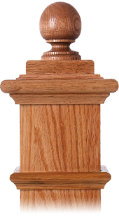 LJ-9008 — Colonial Balltop Finial for Box Newels