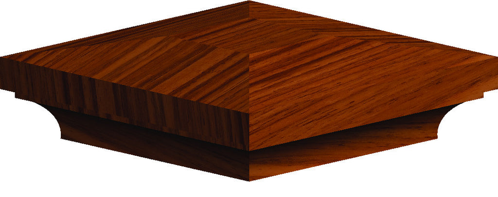 "LJ-9012 — Box Newel Cap for 3-1/2"" Newels"