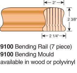 9100-BR - Bending Wood Hand Rail - Non-Plowed