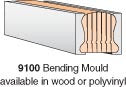 9100P-BM - Polyvinyl Bending Mould - 8' Section