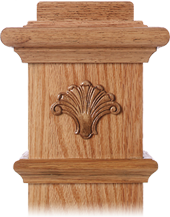 LJ-9103 — Fan Embossed Carving for Box Newels