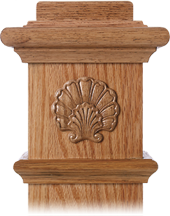 LJ-9105 — Shell Embossed Carving for Box Newels