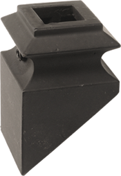 "LI-ALPSH02 — Pitch Shoe for 1/2"" Square Iron Balusters"